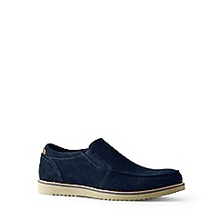 Lands' End - Blue wide comfort casual suede loafers