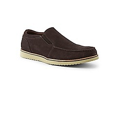 Lands' End - Brown wide comfort casual suede loafers