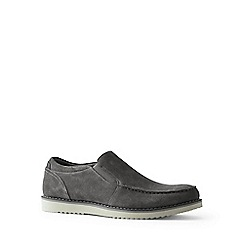 Lands' End - Grey wide comfort casual suede loafers