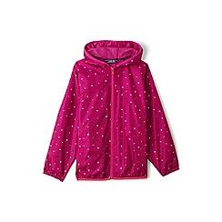 Lands' End - Pink toddler kids' patterned packable waterproof jacket