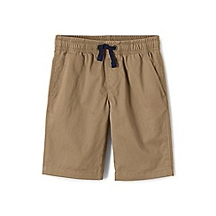 Lands' End - Beige boys' pull-on shorts