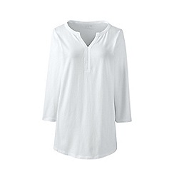 Lands' End - White lightweight notch neck top