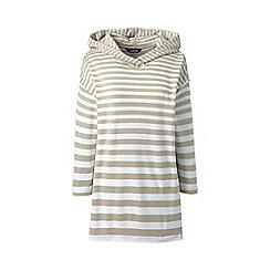 Lands' End - Multi plus striped ponte jersey hoodie