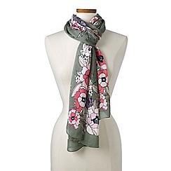 Lands' End - Green floral border scarf