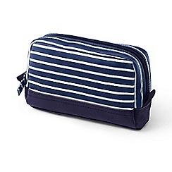 Lands' End - Blue rectangular make-up bag