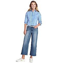 Lands' End - Blue mid rise wide leg cropped jeans
