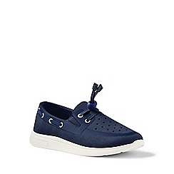 Lands' End - Blue boat shoes