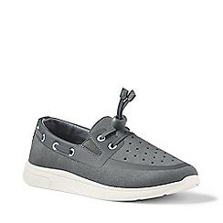 Lands' End - Grey boat shoes