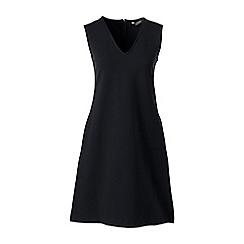 Lands' End - Black ponte jersey straight shift dress