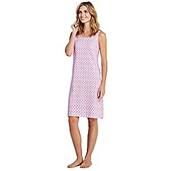 Lands' End - Pink womens supima sleevesless patterned nightdress