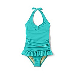Lands' End - Aqua girls' skirted one piece swimsuit