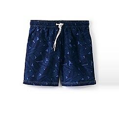 Lands' End - Blue 6-inch patterned swim shorts