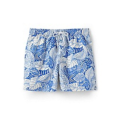 Lands' End - Blue 6-inch patterned swim shorts