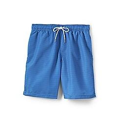Lands' End - Blue 8-inch patterned swim shorts