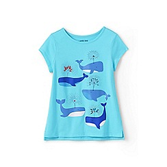 Lands' End - Blue girls' graphic t shirt