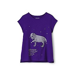 Lands' End - Girls' Purple  graphic t-shirt