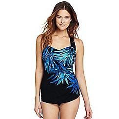 68e76911169d7 Lands' End - Multi dd-cup slender tunic palm ombre print swimsuit