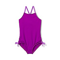 Lands' End - Purple girls' bow swimsuit