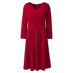 Lands' End - Red ruched bodice jersey dress