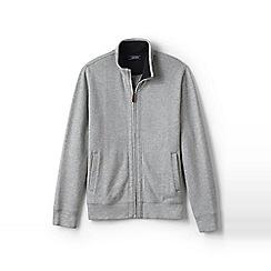 Lands' End - Grey brushed rib zip jacket