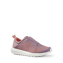 Lands' End - Pink slip-on trainers