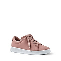 Lands' End - Pink lace-up trainers