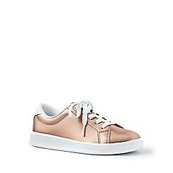 Lands' End - Gold lace-up trainers