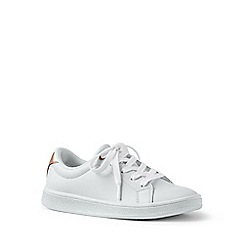 Lands' End - White lace-up trainers