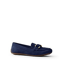 Lands' End - Blue suede loafers