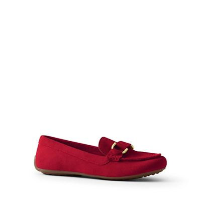 Lands' End - Red suede loafers