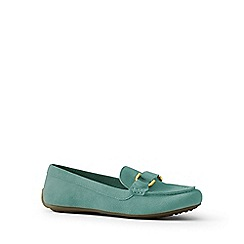 Lands' End - Green suede loafers