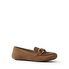 Womens Wide Suede Loafers - 4.5 Lands End 2BpSIsy