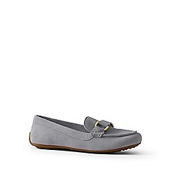 Lands' End - Grey suede loafers