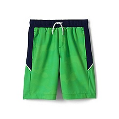 Lands' End - Green boys' active swim shorts