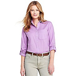Lands' End - Purple roll sleeves for a casual vibe shirt