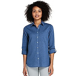 Lands' End - Blue roll sleeves for a casual vibe shirt