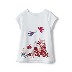 Lands' End - Girls' White  graphic t-shirt