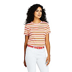 Lands' End - Orange Plus Supima Cotton Striped T-Shirt