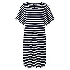 Lands' End - Blue womens striped jersey t-shirt dress