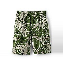 Lands' End - Green boys' printed pull-on cargo shorts