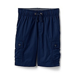Lands' End - Blue boys' pull-on cargo shorts