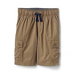 Lands' End - Beige boys' pull-on cargo shorts