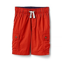 Lands' End - Orange boys' pull-on cargo shorts