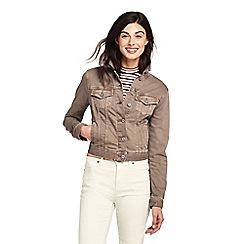 655bea906c Lands  End - Beige womens coloured denim jacket