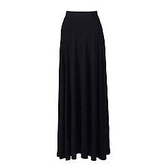 Lands' End - Black womens jersey maxi skirt