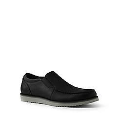 Lands' End - Black comfort casual leather loafers