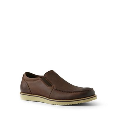Lands' End - Brown comfort casual leather loafers