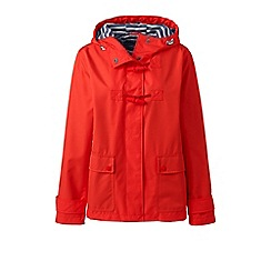 Lands' End - Orange tall duffle rain jacket