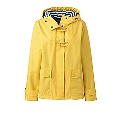 Lands' End - Yellow tall duffle rain jacket