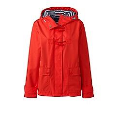 Lands' End - Orange petite duffle rain jacket